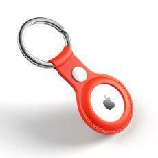 JIUYU PU-nahkainen avaimenperä Apple AirTagille red