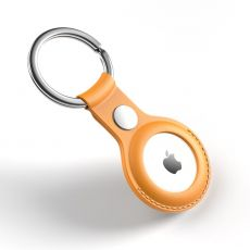 JIUYU PU-nahkainen avaimenperä Apple AirTagille yellow