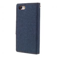 Goospery iPhone 5/5S/SE Canvas-kotelo blue