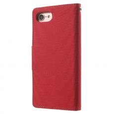 Goospery iPhone 7/8/SE Canvas-kotelo Red