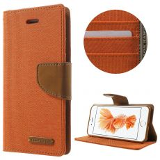 Goospery iPhone 7/8/SE Canvas-kotelo Orange