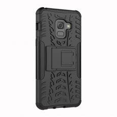 LN Galaxy A8 2018 suojakuori tuella black
