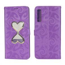 Luurinetti suojalaukku Galaxy A7 2018 Sydän purple