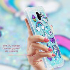 Luurinetti TPU-suoja Galaxy J6+ 2018 Glitter #14