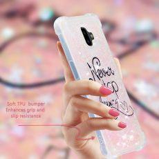 Luurinetti TPU-suoja Galaxy J6+ 2018 Glitter #16