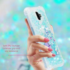 Luurinetti TPU-suoja Galaxy J6+ 2018 Glitter #18