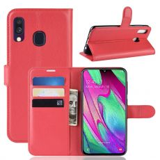 Luurinetti Flip Wallet Galaxy A40 red
