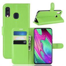 Luurinetti Flip Wallet Galaxy A40 green