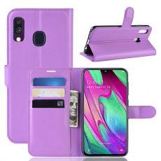 Luurinetti Flip Wallet Galaxy A40 purple