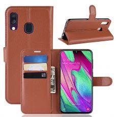 LN Flip Wallet Galaxy A40 brown