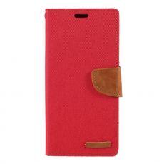 Goospery Galaxy A50 Canvas -kotelo Red
