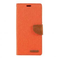 Goospery Galaxy A50 Canvas -kotelo Orange