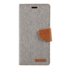 Goospery Galaxy A10 Canvas-kotelo Grey