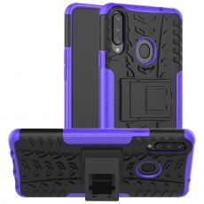 LN suojakuori tuella Galaxy A20s Purple