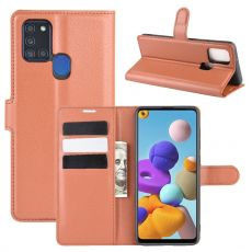 LN Flip Wallet Galaxy A21s Brown
