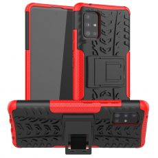 LN kuori tuella Galaxy A51 5G Red