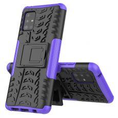 LN kuori tuella Galaxy A51 5G Purple