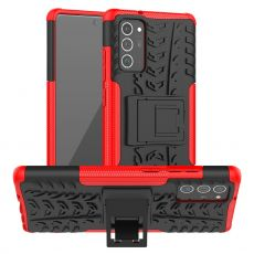 LN kuori tuella Galaxy Note20 Red