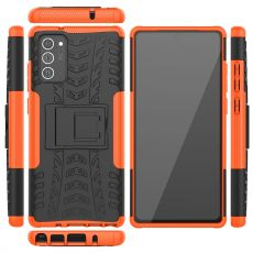 LN kuori tuella Galaxy Note20 Orange