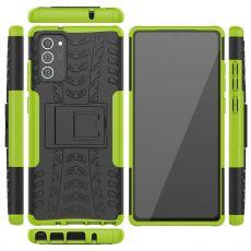 LN kuori tuella Galaxy Note20 Green