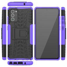 LN kuori tuella Galaxy Note20 Purple
