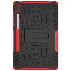 LN kuori tuella Galaxy Tab S7 Red