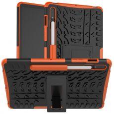 LN kuori tuella Galaxy Tab S7 Orange