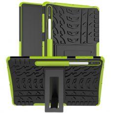 LN kuori tuella Galaxy Tab S7+/S7 FE 5G Green