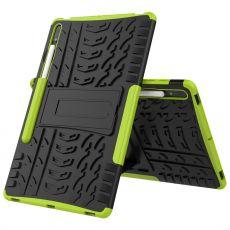 LN kuori tuella Galaxy Tab S7+ Green
