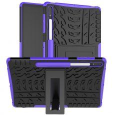 LN kuori tuella Galaxy Tab S7+ Purple