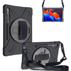 LN suojakuori+kantohihna Galaxy Tab S7+/S7 FE 5G black