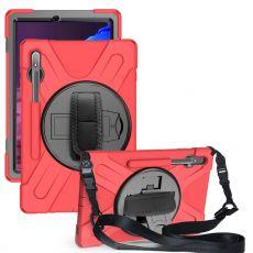LN suojakuori+kantohihna Galaxy Tab S7+/S7 FE 5G red
