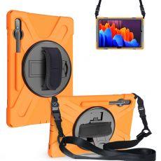 LN suojakuori+kantohihna Galaxy Tab S7+/S7 FE 5G orange