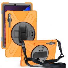 LN suojakuori+kantohihna Galaxy Tab S7+ orange