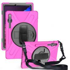 LN suojakuori+kantohihna Galaxy Tab S7+/S7 FE 5G rose