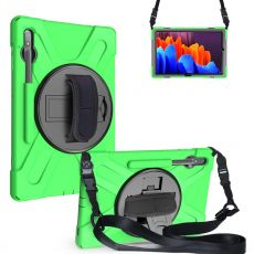 LN suojakuori+kantohihna Galaxy Tab S7+/S7 FE 5G green