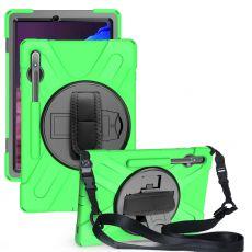 LN suojakuori+kantohihna Galaxy Tab S7+ green