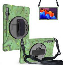 LN suojakuori+kantohihna Galaxy Tab S7+/S7 FE 5G army