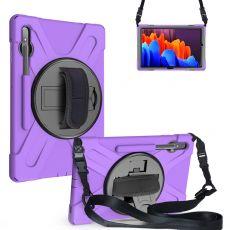 LN suojakuori+kantohihna Galaxy Tab S7+/S7 FE 5G purple