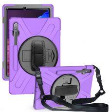 LN suojakuori+kantohihna Galaxy Tab S7+ purple