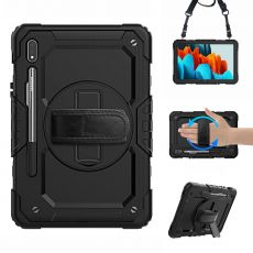 LN suojakuori+kantohihna Galaxy Tab S7 black/black