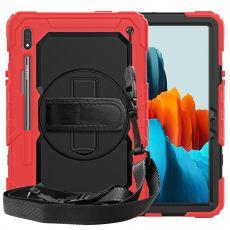 LN suojakuori+kantohihna Galaxy Tab S7 red/black