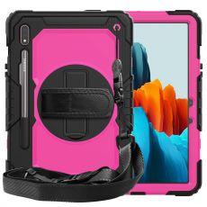 LN suojakuori+kantohihna Galaxy Tab S7 black/rose