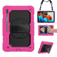 LN suojakuori+kantohihna Galaxy Tab S7 rose/black
