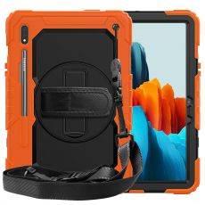 LN suojakuori+kantohihna Galaxy Tab S7 orange/black
