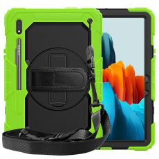 LN suojakuori+kantohihna Galaxy Tab S7 green/black