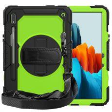 LN suojakuori+kantohihna Galaxy Tab S7 black/green