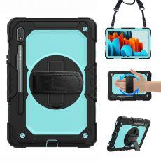 LN suojakuori+kantohihna Galaxy Tab S7 black/cyan