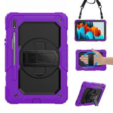 LN suojakuori+kantohihna Galaxy Tab S7 purple/black