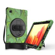 """LN suojakuori+kantohihna Galaxy Tab A7 10.4"""" Army"""